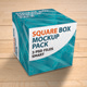 3 Square Box Mockup Pack with Background Options - GraphicRiver Item for Sale