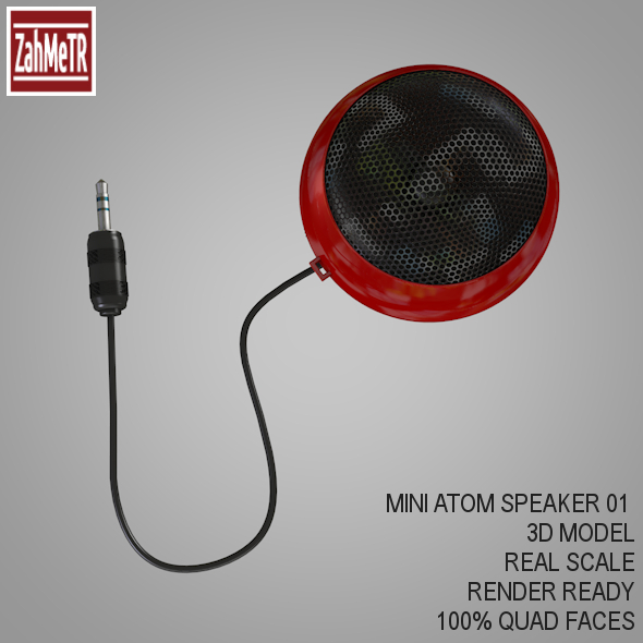 Mini Portable Atom Speaker 3d Model - 3DOcean Item for Sale
