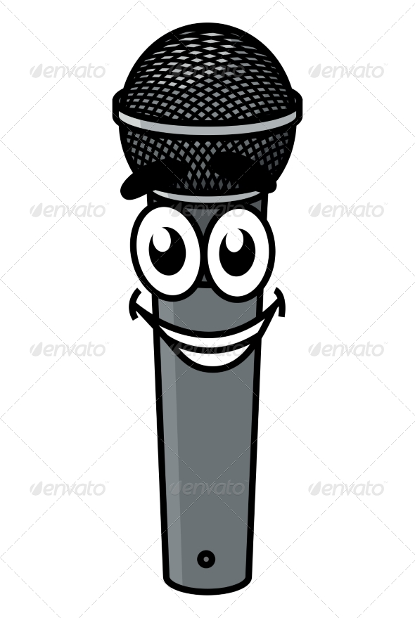 cartoon microphone by vectortradition graphicriver rh graphicriver net cartoon microphone cartoon microscope