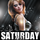 Saturday Night Party Flyer - GraphicRiver Item for Sale