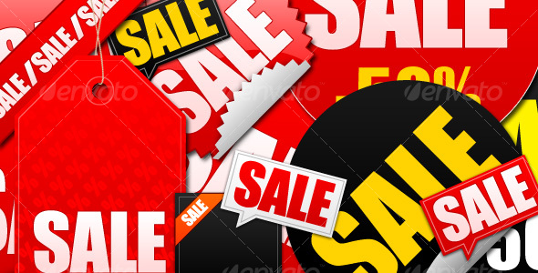 SALE STICKERS AND LABELS - Decorative Symbols Decorative