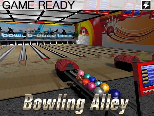 Game Ready Bowling Alley - 3DOcean Item for Sale