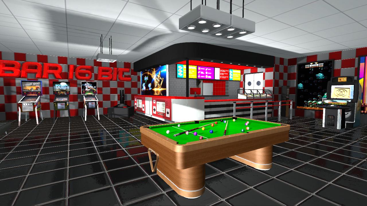 Game Ready Retro Bar Pool Room By Richicon DOcean - Retro pool table