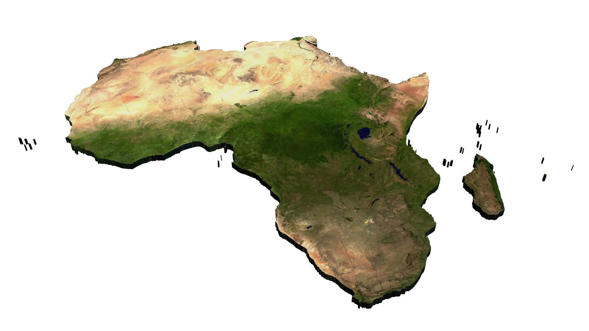 Map Of Africa 3d.World Geo Map Africa By Maira 3docean
