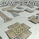 Game Ready Modular Stunt Race Track Kit - 3DOcean Item for Sale