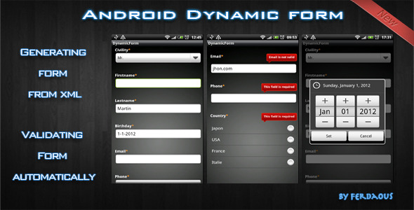 Android Dynamic Form - CodeCanyon Item for Sale