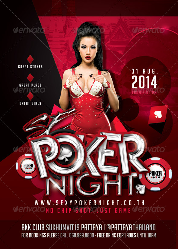 Sexy Poker Night Party In Club