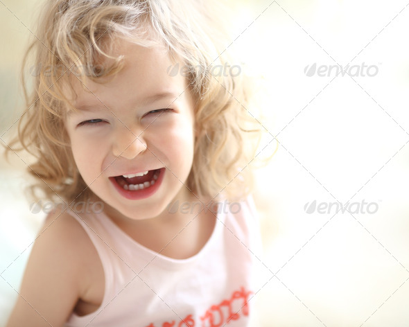 Laughing child - Stock Photo - Images