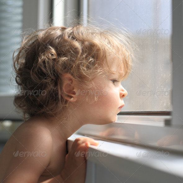 Sad child - Stock Photo - Images