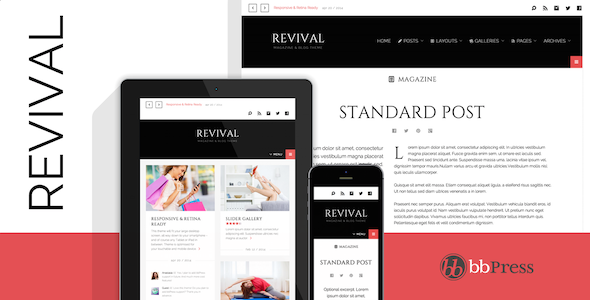 Revival – Clean Magazine / Blog Theme