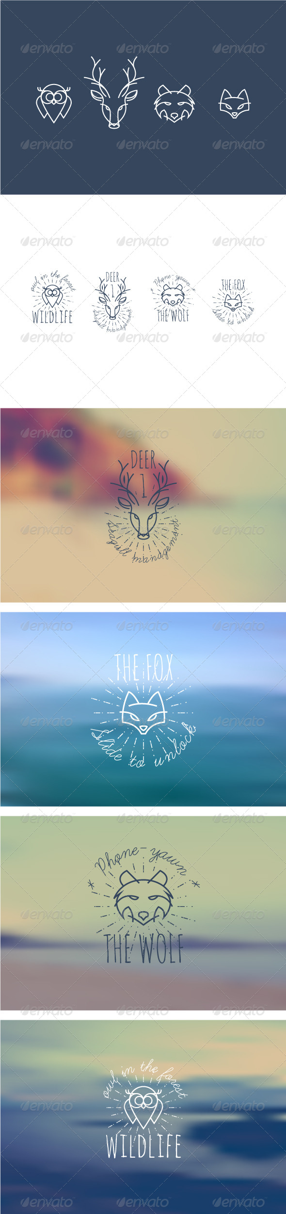 Animal Insignias - Tattoos Vectors