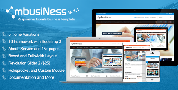 MbusiNess – Responsive Joomla Business Template
