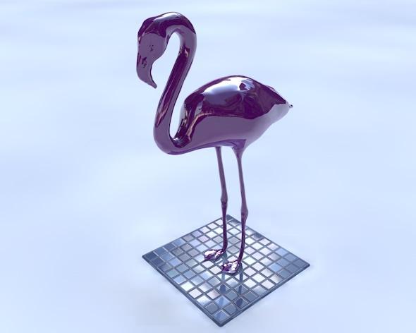 Flamingo Statue - 3DOcean Item for Sale