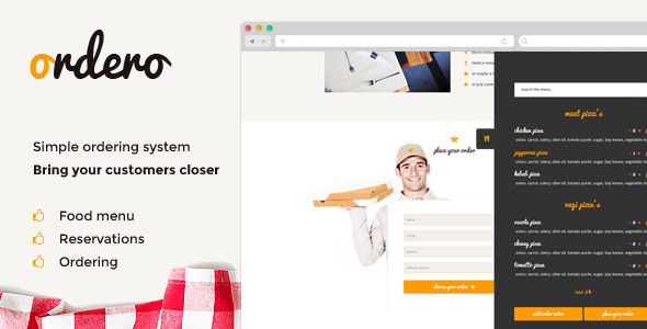 Ordero - Menu,Order,Reservation Wordpress Plugin - CodeCanyon Item for Sale