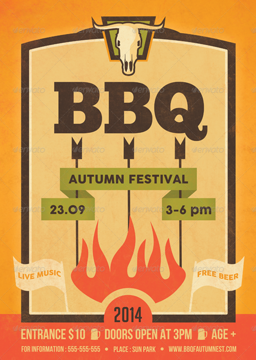 barbecue flyers