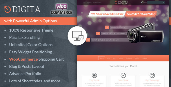 Digita – WooCommerce Parallax Theme