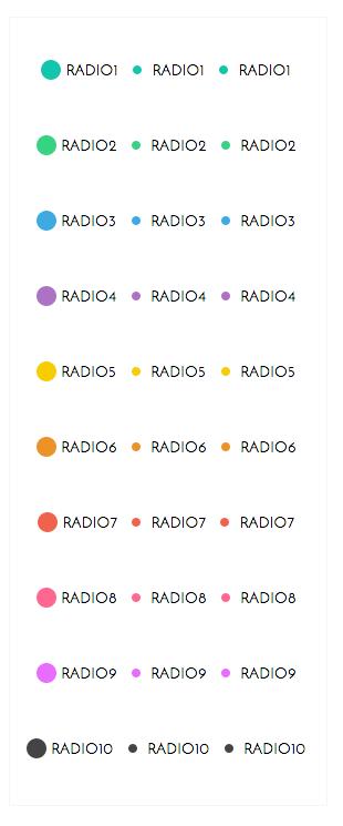 CSS3 Custom Radio Buttons