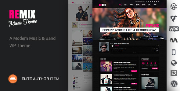 Remix – Music Band Club Party Event WP Theme