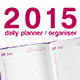 Daily Planner, Organizer and Diary 2015 - GraphicRiver Item for Sale