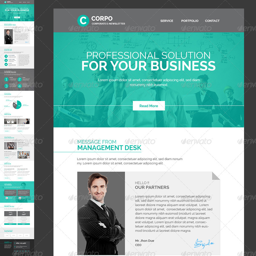 Corporate Enewsletter Template by Kalanidhithemes – Corporate Newsletter Template