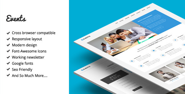 Events – Responsive Landing Page Template