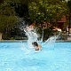 Jumping in Swimming Pool. Slow Motion - VideoHive Item for Sale
