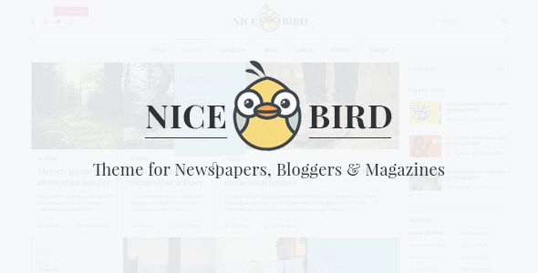Nice Bird | Blog and Newspaper PSD Theme