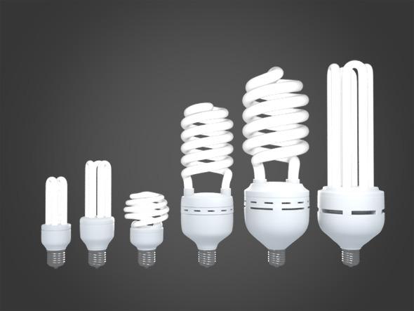 Energy Savings Lamps - 3DOcean Item for Sale