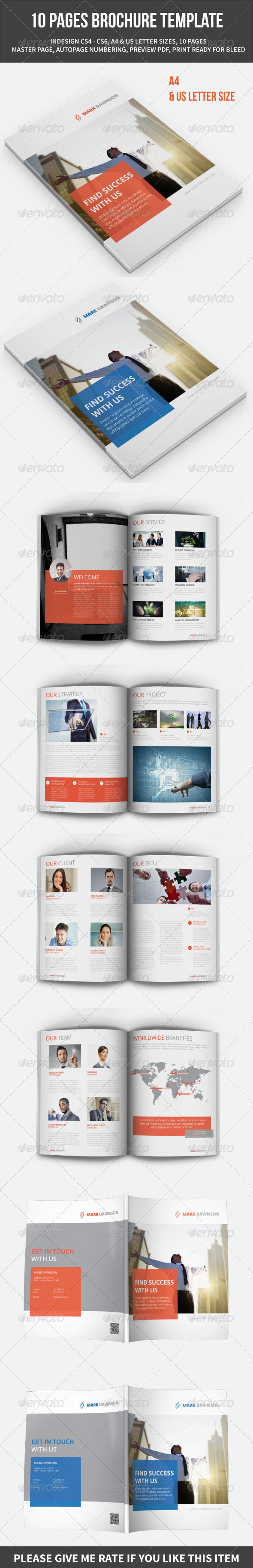 10 PAGES BROCHURE TEMPLATE - Informational Brochures