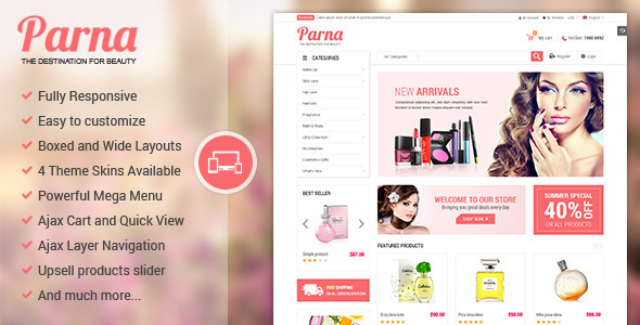 Parna – Responsive Multi-purpose Magento Theme