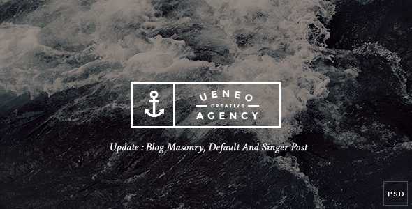 Ueneo - Creative One Page PSD Template - Creative PSD Templates
