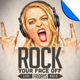 Rock Your Face Off Poster Flyer Template