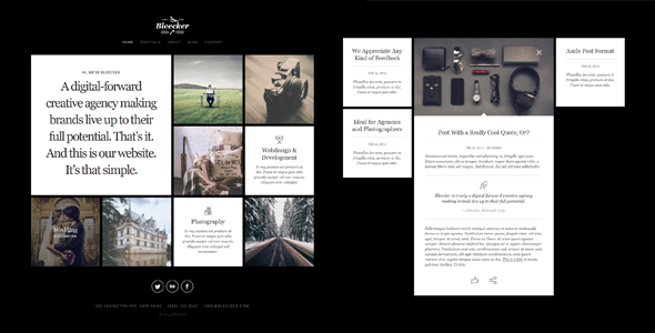 Bleecker – Responsive Retina-Ready WP Portfolio - Photography Creative