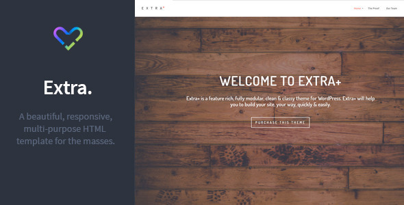 Extra – Multipurpose Responsive HTML Template