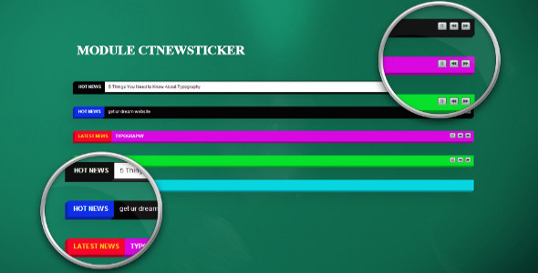 Joomla Newsticker Module - CodeCanyon Item for Sale