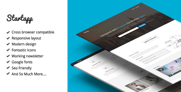 Startapp - Responsive Landing Page Template - Marketing Corporate