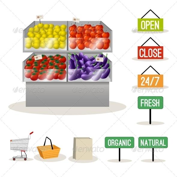 Supermarket Fruits and Vegetables