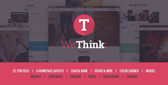 We Think – Responsive Multipurpose PSD Template