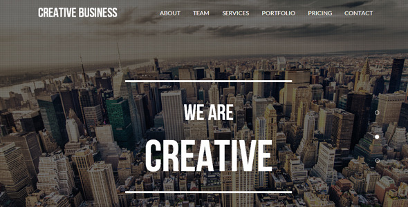 Creative Business – One Page Parallax Template