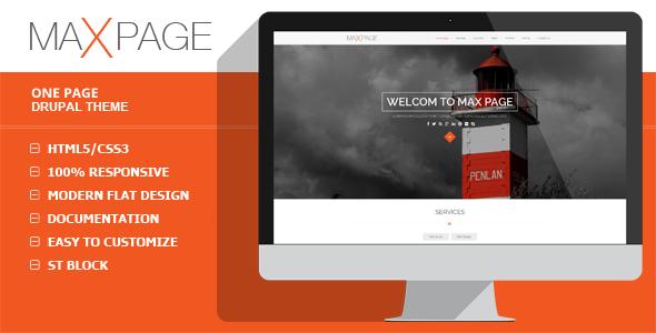 Maxpage – One Page Drupal Theme