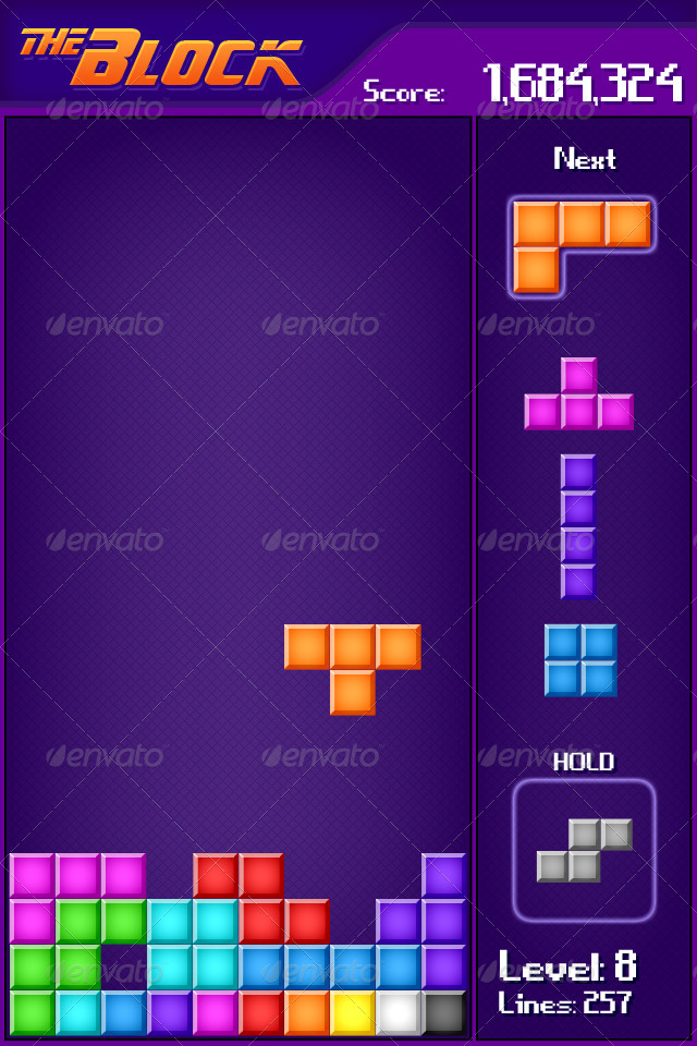 tetris mobile game sprite by nobic