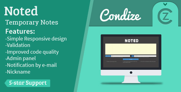 Noted - Temporary Notes System - CodeCanyon Item for Sale
