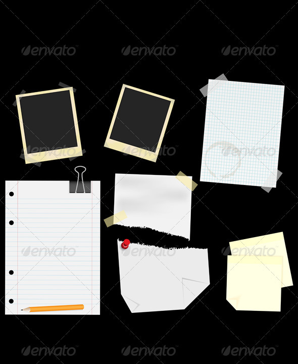 Stationery - Scrapbooking - Miscellaneous Vectors