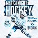 Hockey Game Night   Flyer Template PSD