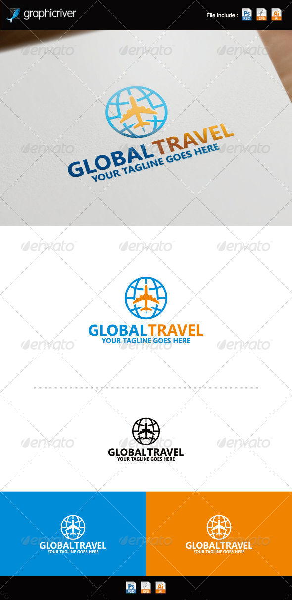 World Travel Logo by REDVY | GraphicRiver Leelawadee Font