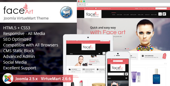 Face Art - Responsive VirtueMart Theme