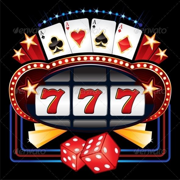 Casino Machine - Decorative Symbols Decorative