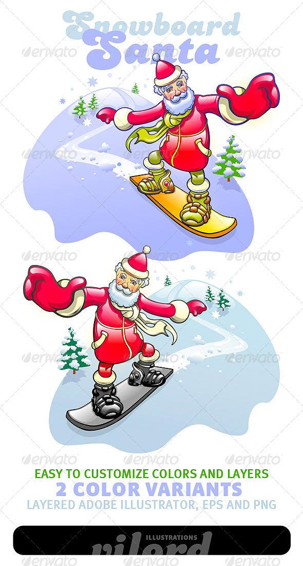 Santa Mascot - People Characters