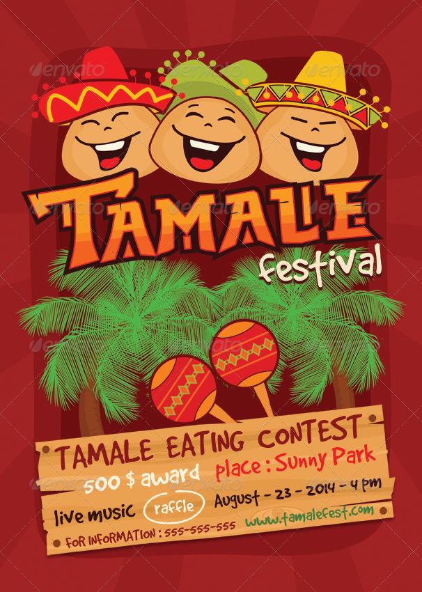 tamale festival flyer template by ragerabbit
