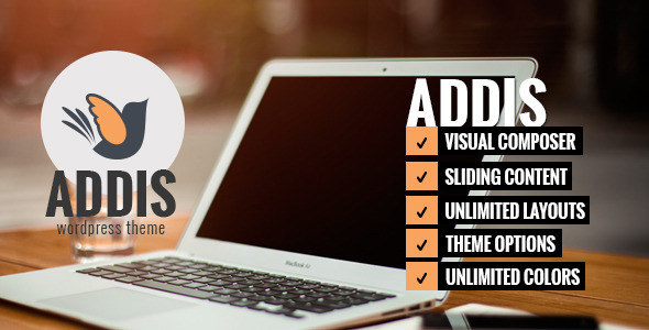 ADDIS - Simple Sliding WordPress Theme